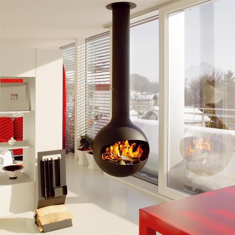 Great Ideas: Modern Interior Fireplaces | CozyLittleHouses.com