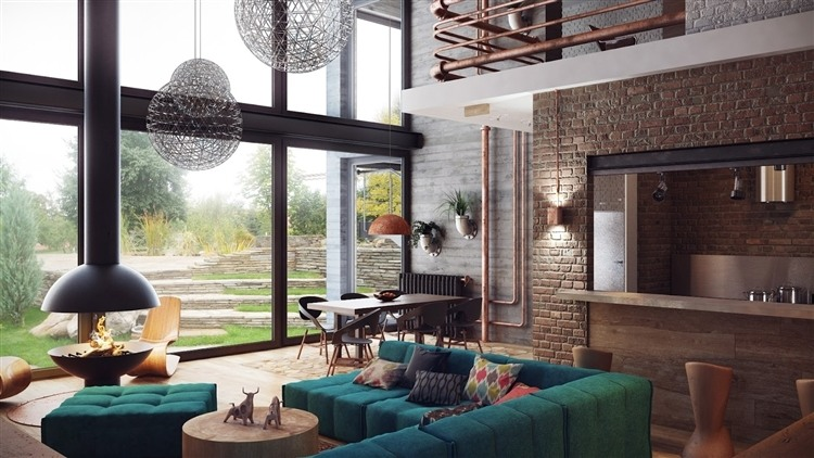 Decoracion Loft Duplex ~ Amazing duplex loft like interior visualization by talented Minsk