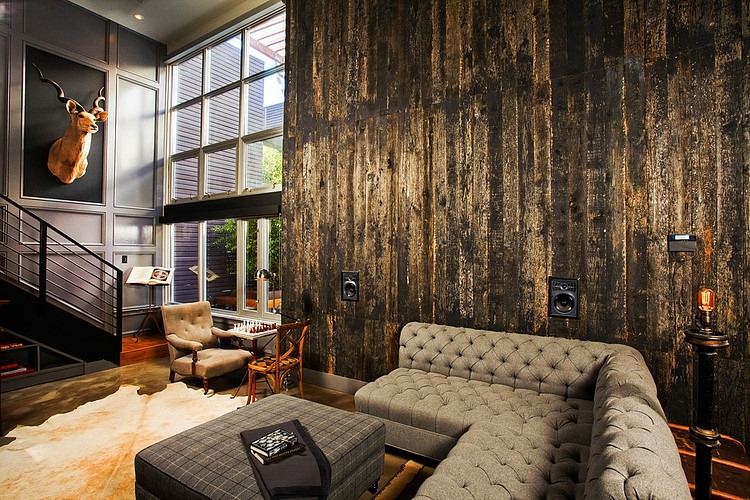 Industrial retro interior design homeadore - Industrial design interior ideas ...