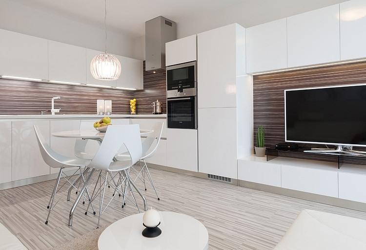 Monochromatic apartment in bratislava by goldfish for Bratislava apartments