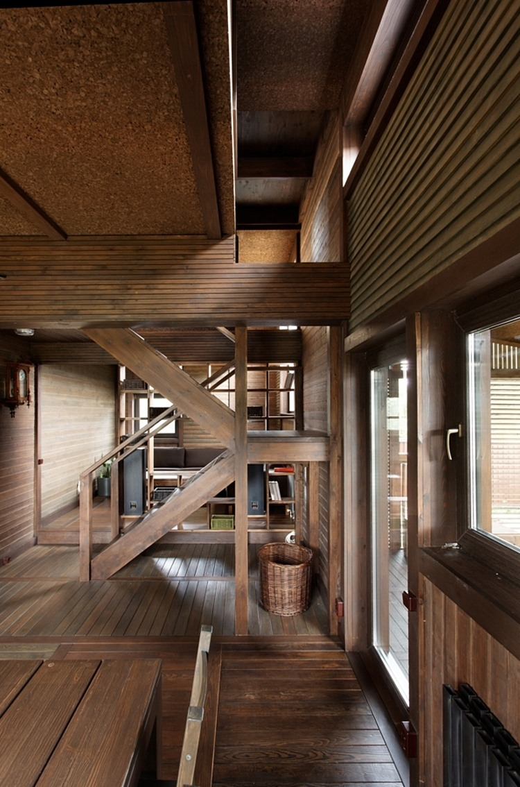 Wood Patchwork House by Peter Kostelov