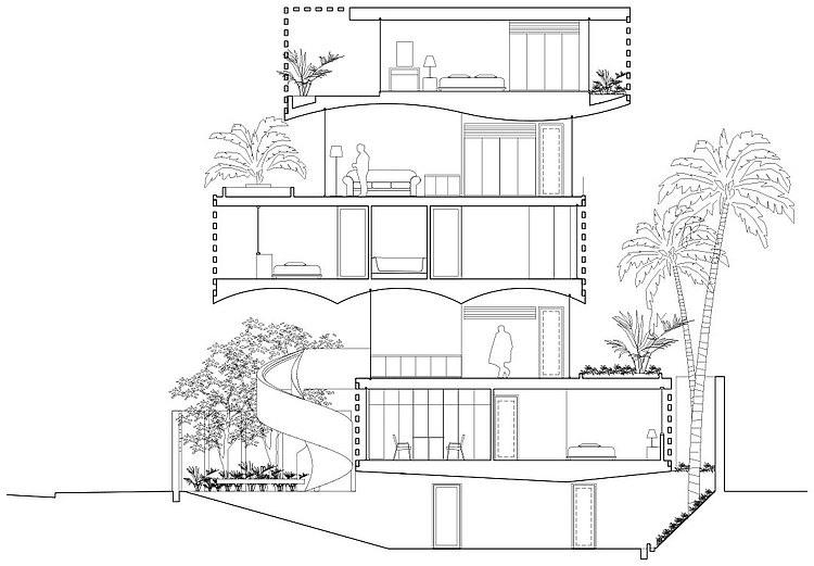 Binh Thanh House by Vo Trong Nghia and Sanuki + Nishizawa