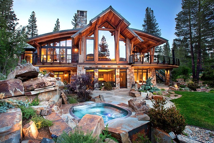 North lake tahoe residence by kelly stone architects for Lakehouse homes