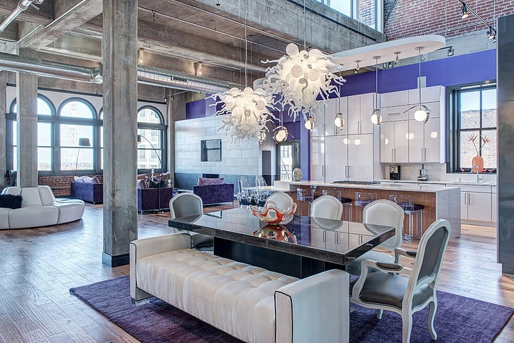 Downtown Penthouse Loft By S Amp K Interiors 171 Homeadore