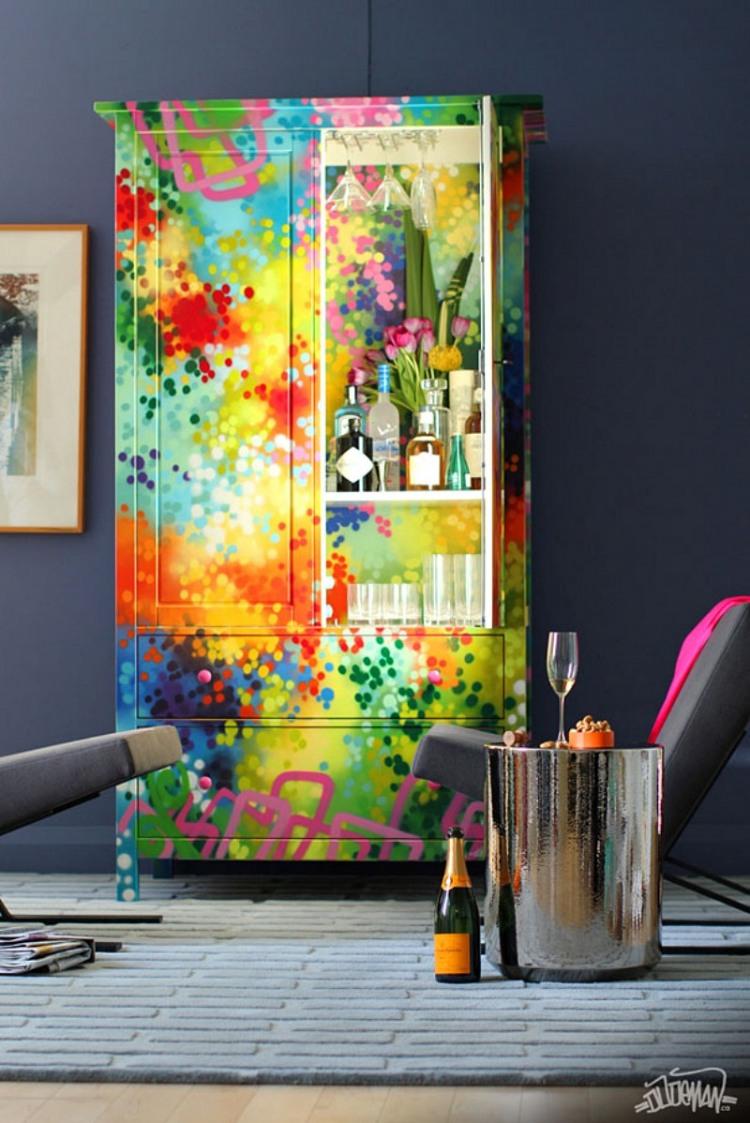 funky graffiti furniture by dudeman homeadore. Black Bedroom Furniture Sets. Home Design Ideas