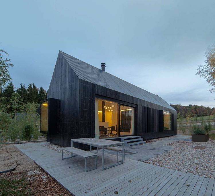 Longhouses Format Elf Architekten on modern cottage design cross laminated wood