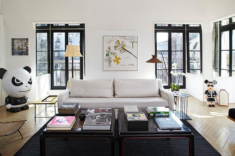 apartement in paris by sarah lavoine homeadore. Black Bedroom Furniture Sets. Home Design Ideas