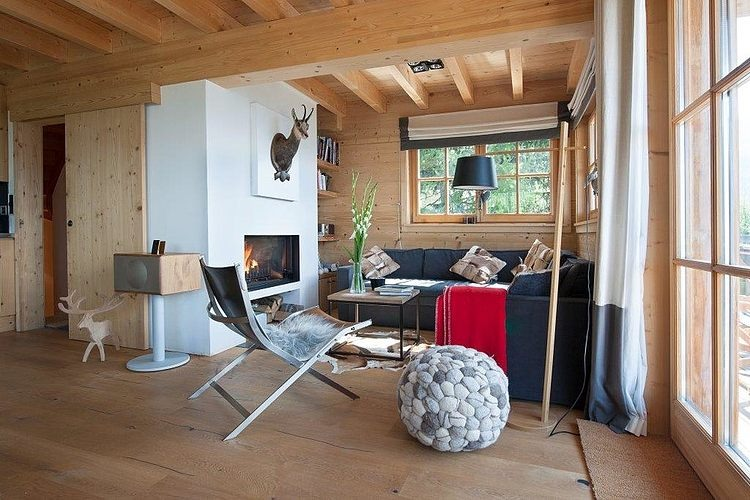 Chalet in switzerland by donatienne d ogimont homeadore for Arredamento per chalet di montagna
