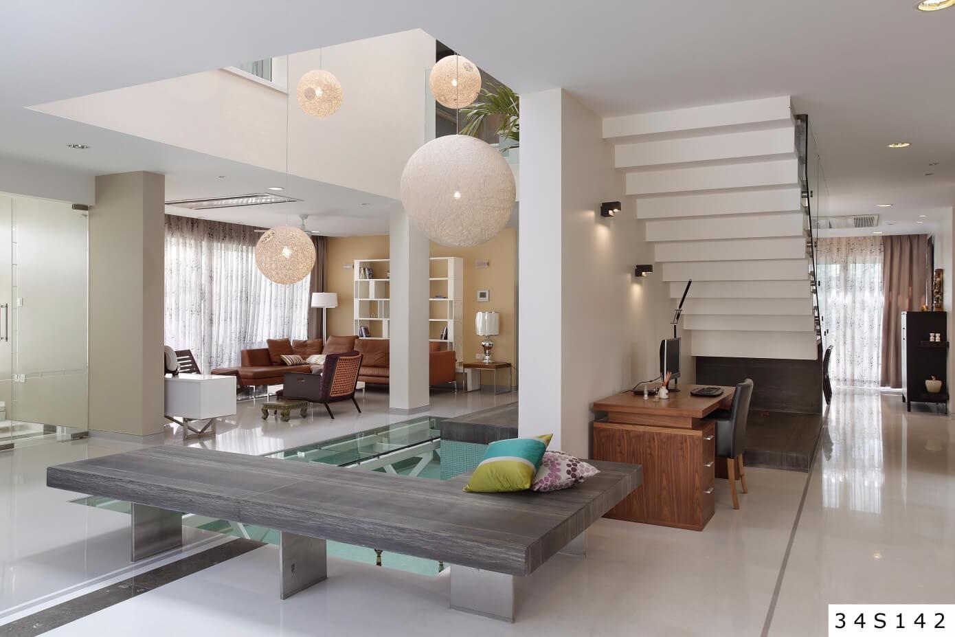 Villa in meenakshi bamboos by moriq homeadore for Villa interior design in hyderabad