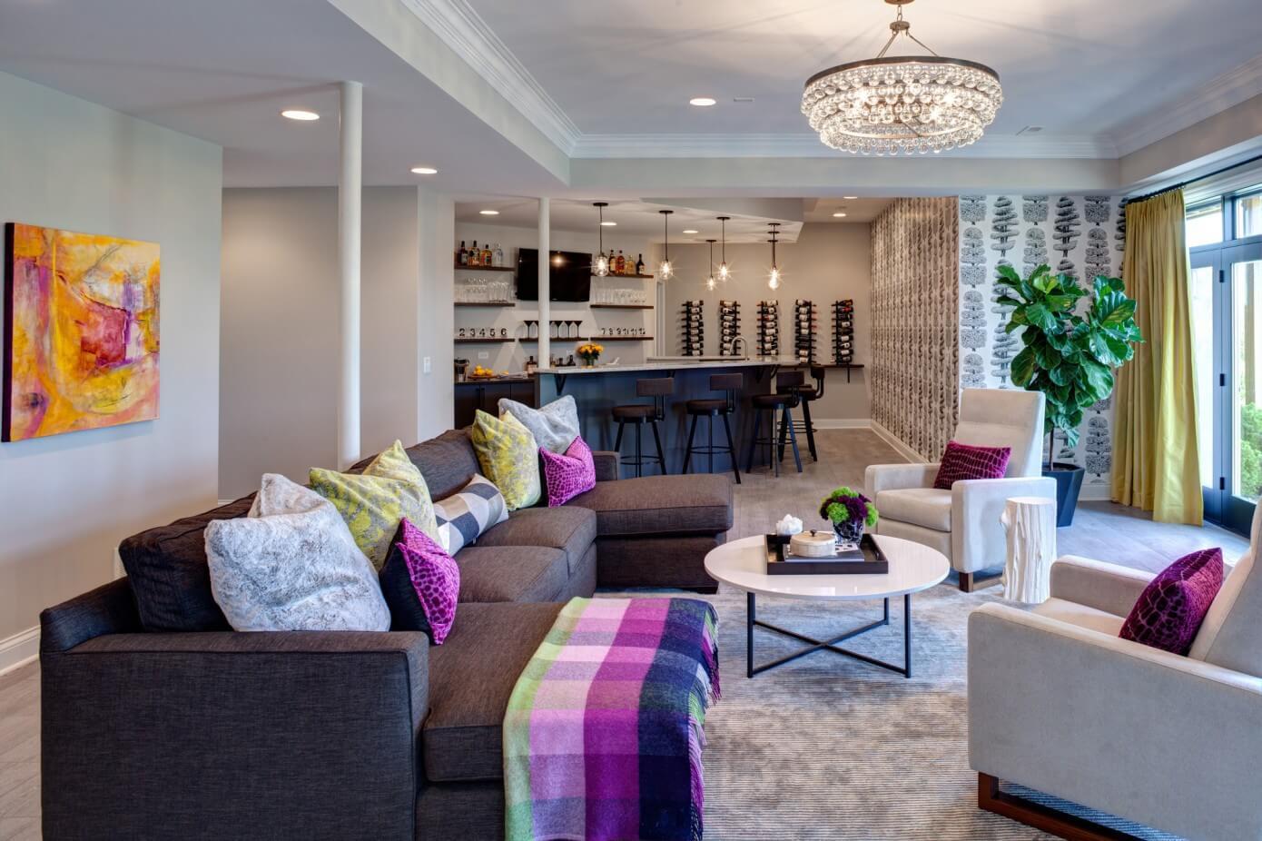 Living Room Bar Chicago Chicago Suburban Home By Edyta Co Homeadore