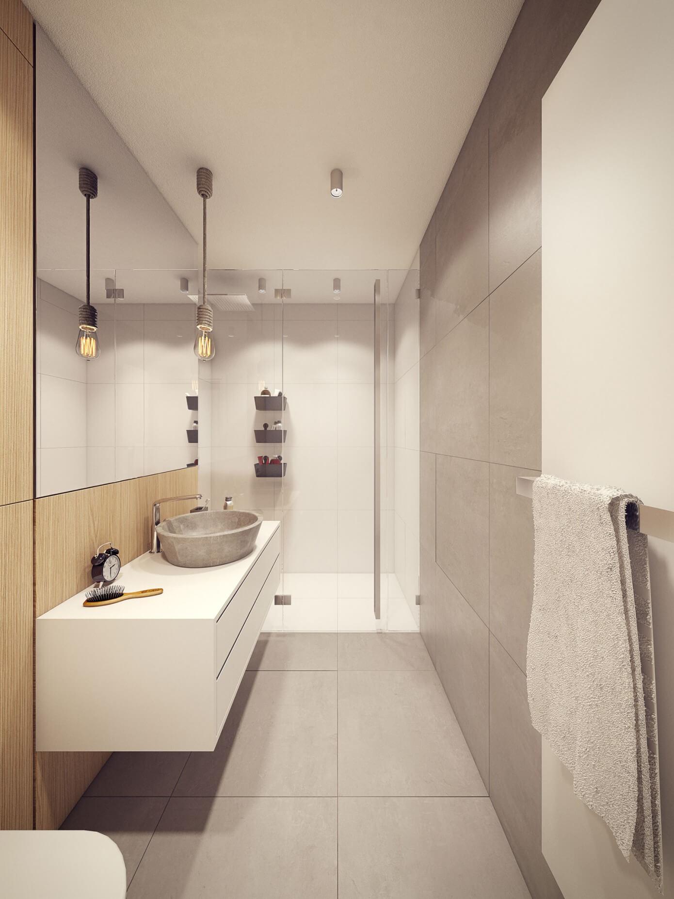 023 60s house plasterlina homeadore for Cabine de douche toilette lavabo