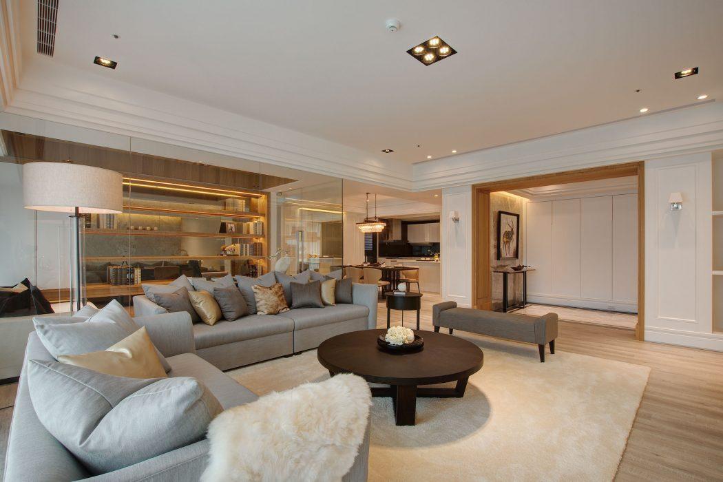Elegant Apartment by j+C Interior Design