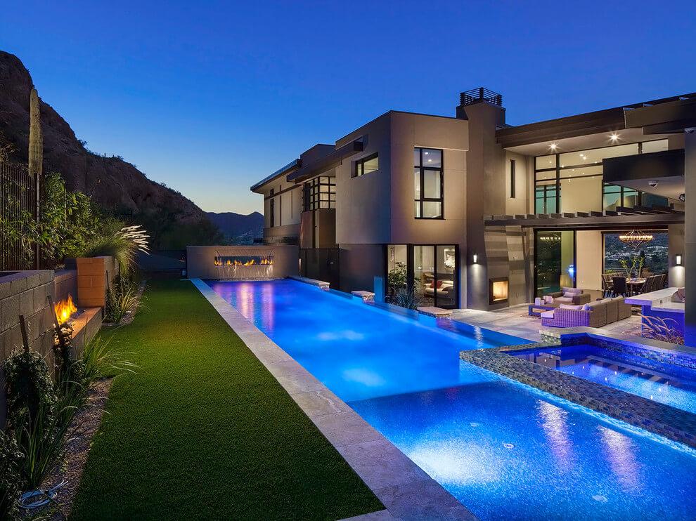 013 arizona contemporary luster custom homes homeadore for Modern custom home builders