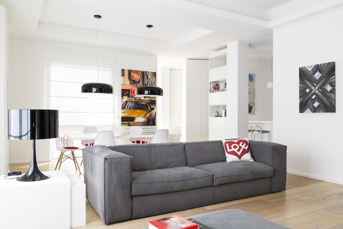 La casa studio by teresa paratore homeadore for Cucina con salotto