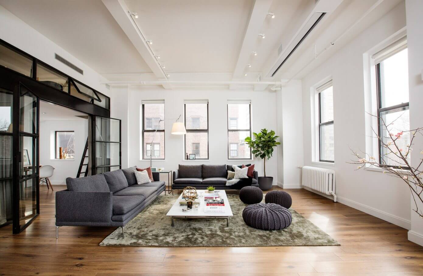 extraordinary new york loft living room | East Village Loft by Shadow Architects | HomeAdore
