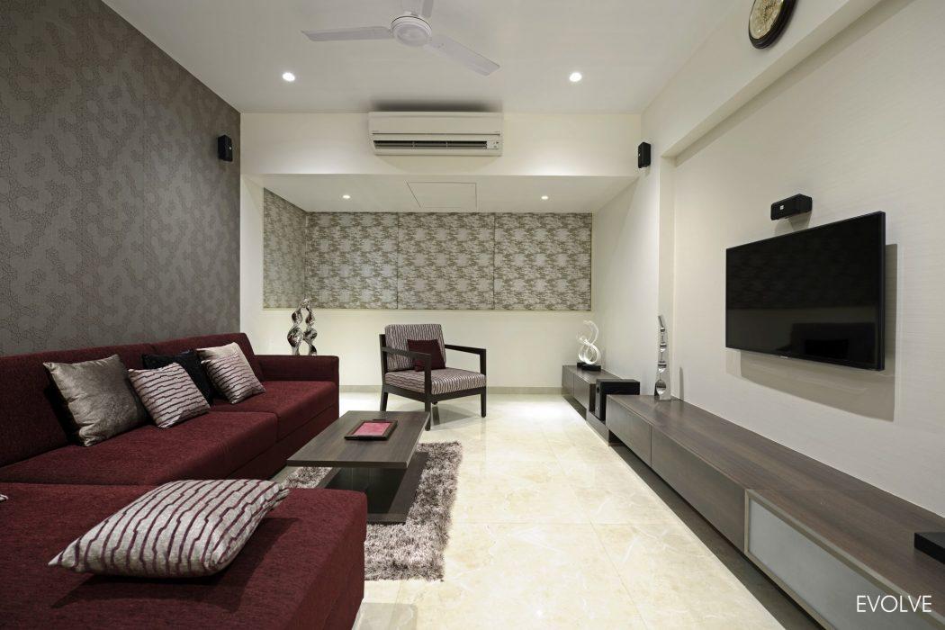 Modern Apartment in Mumbai by Sonu Mistry Design