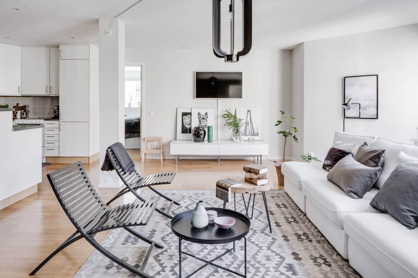 Scandinavian design and style: an apartment in johanneberg