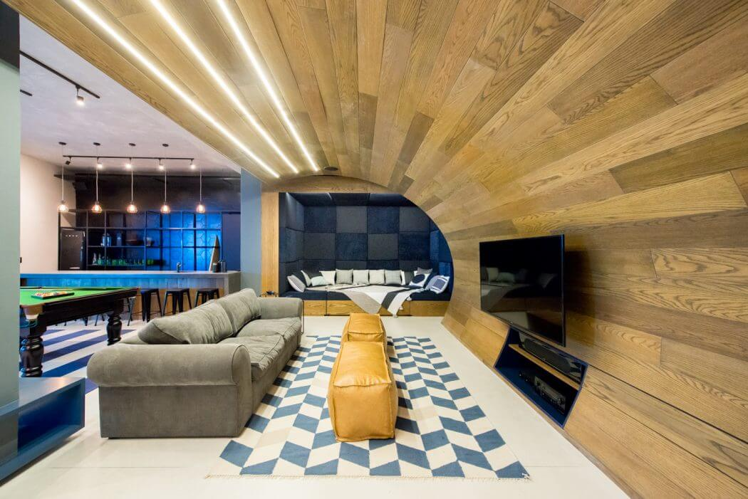 Man Cave by Inhouse Brand Architects