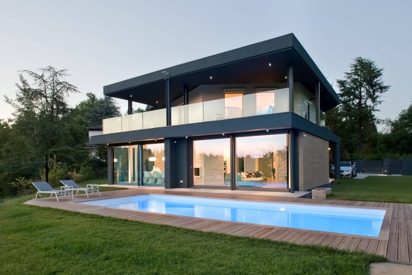 Villa in udine by iarchitects homeadore for Casa moderna udine
