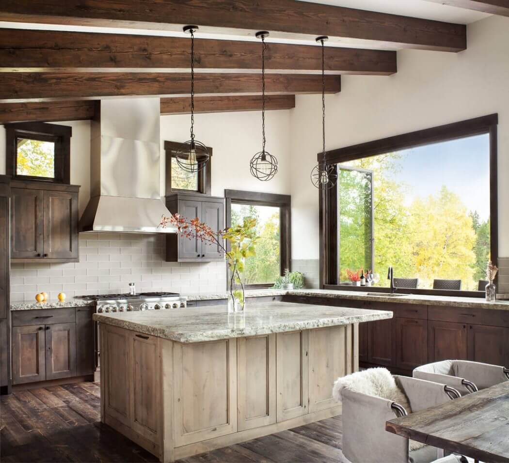 This mountain residence designed by Sage Interior Design is situated in Whitefish, Montana, United States.