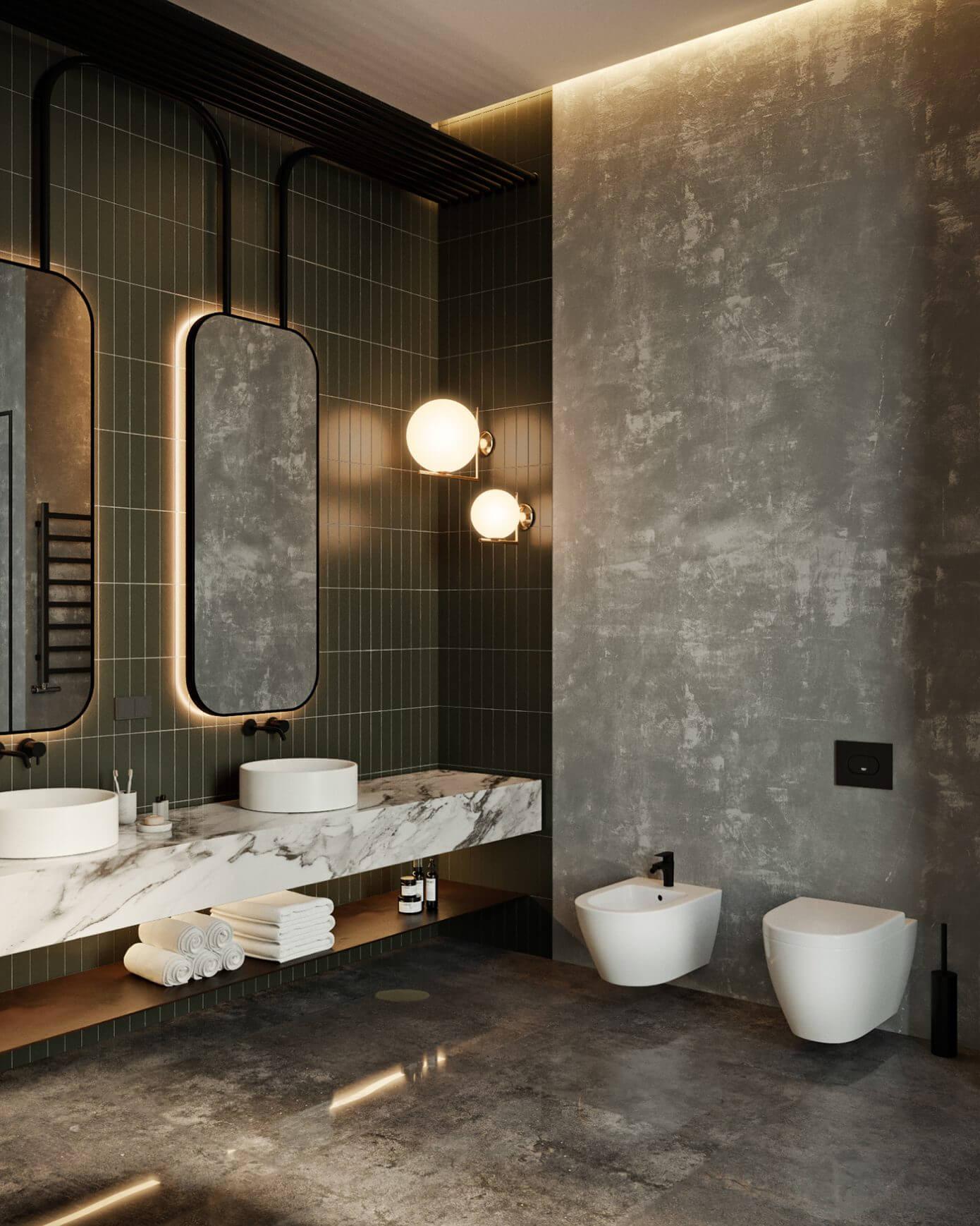 019 oko apartment tolko interiors homeadore for Contemporary washroom