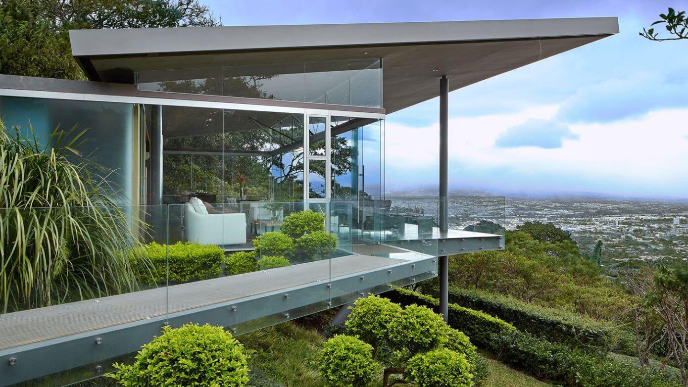 Glass House in Escazú by Cañas Arquitectos