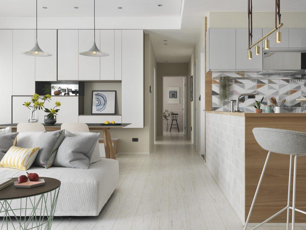 Apartment in Hsinchu by HOZO Interior Design