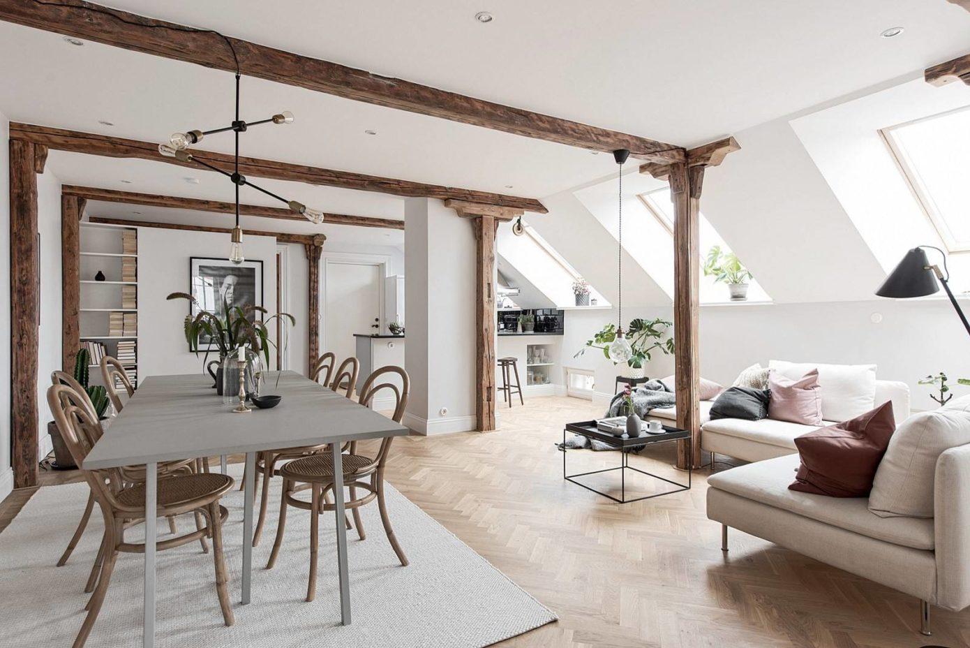 Attic Apartment in Gothenburg by Bjurfors Göteborg