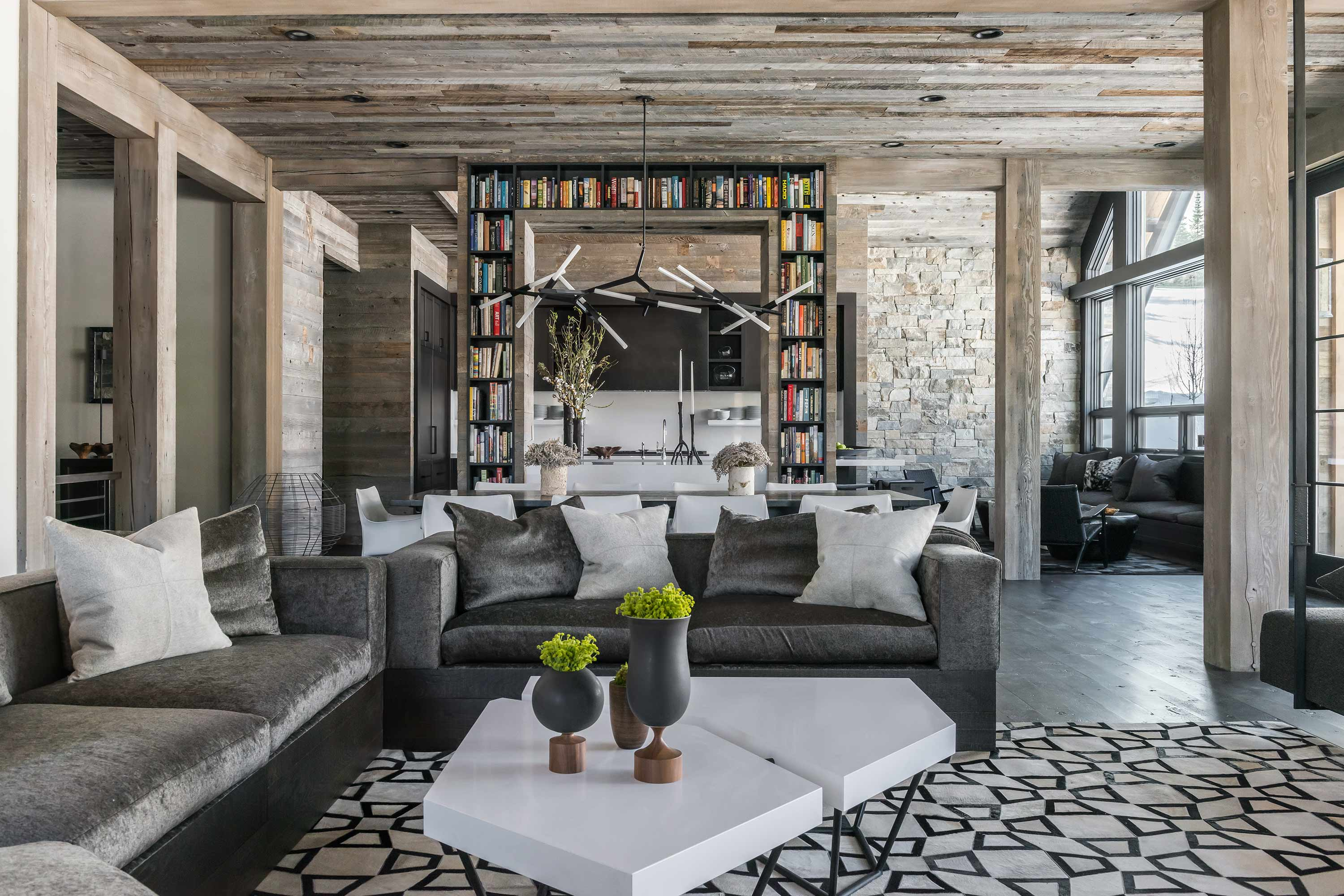 Ski Chalet Interior Design ski chalet in montana by locati architects | homeadore