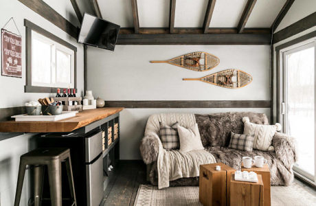 Okotoks Skate Cabin by Patterns and Prosecco Interiors