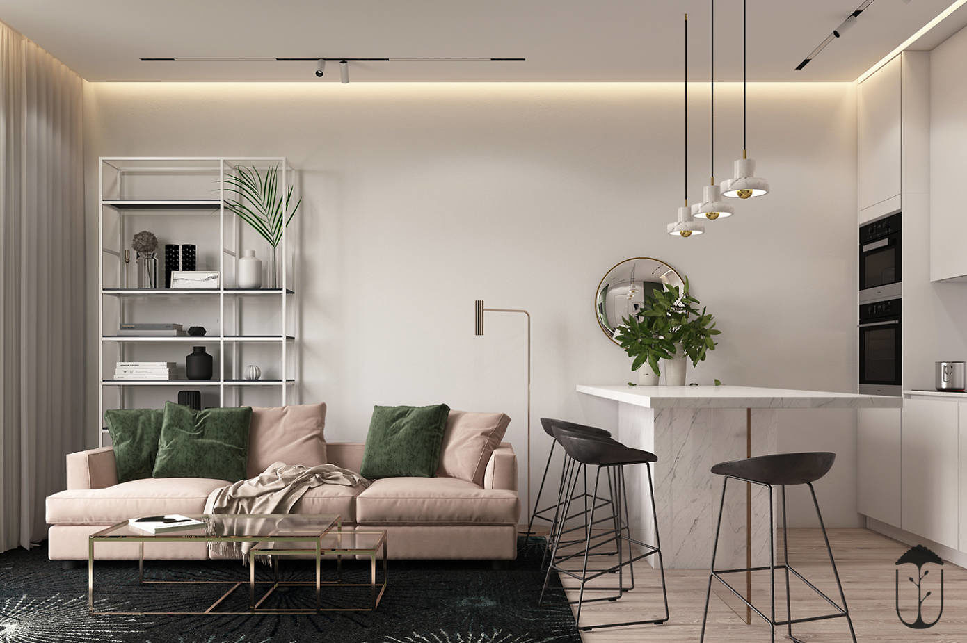 Apartment in Kiev by U-Style