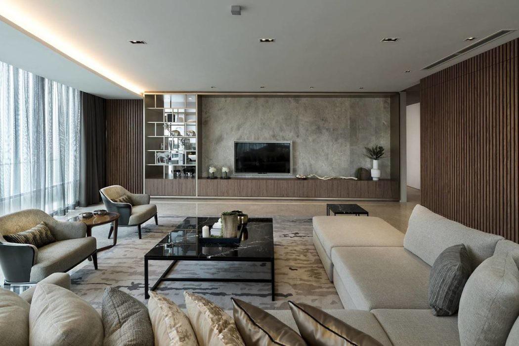 Oval Apartment by Designed Design Associates