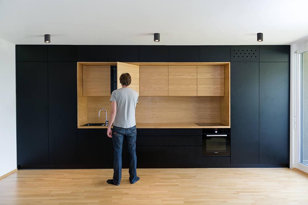 Black Line Apartment by Arhitektura