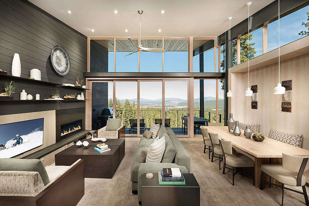 Modern Mountain Home by Aspen Leaf Interiors