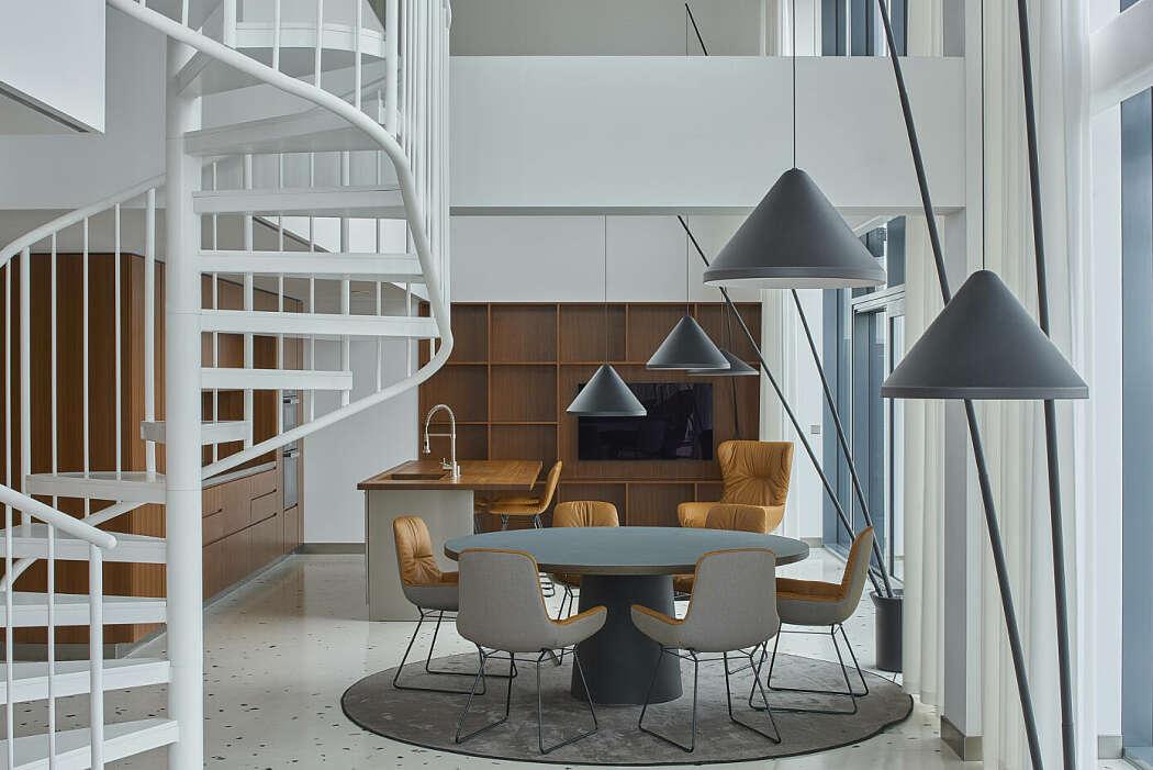 Attic Apartment by INBLUM
