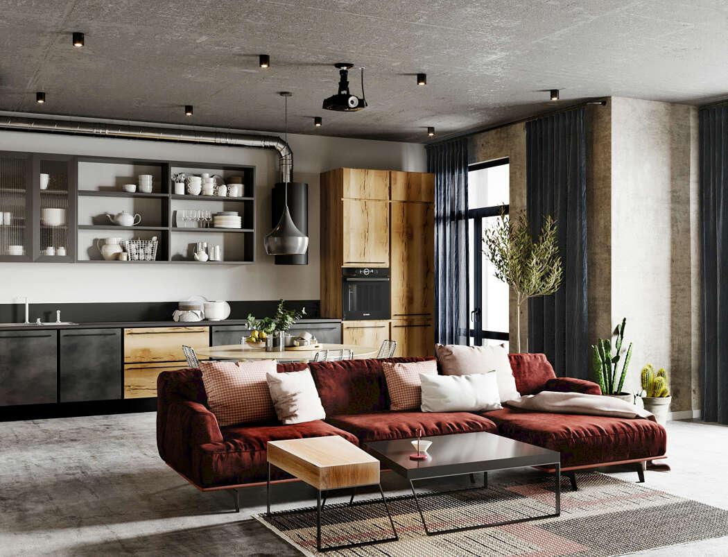 Apartment in Minsk by Lena Budantseva