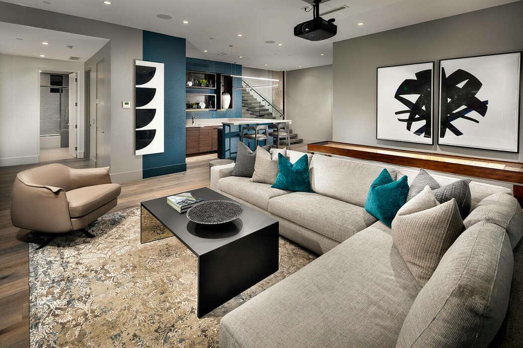 Penthouse by p m a a decoration for Shea homes design studio arizona