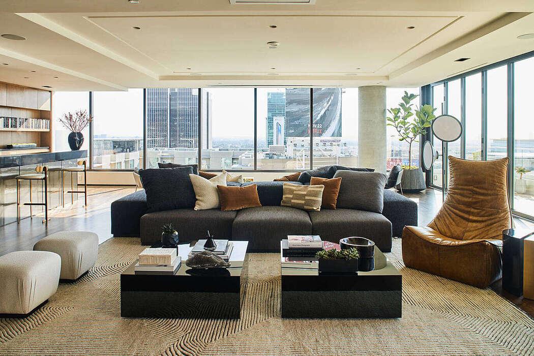 Hollywood Penthouse by Smith Firestone Associates