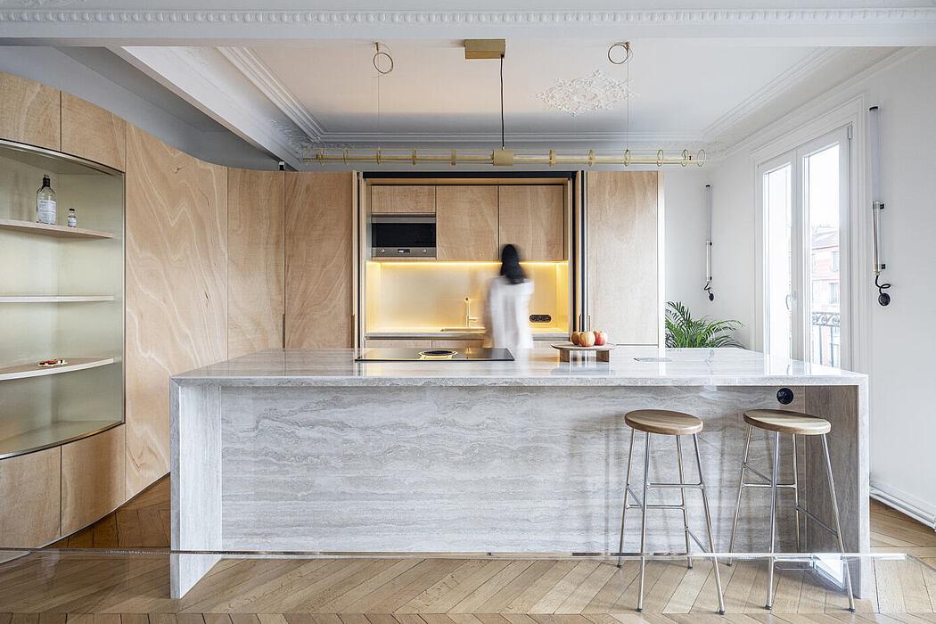 Wood Ribbon Apartment by Gabrielle Toledano