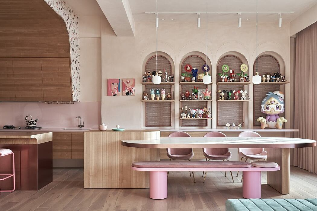 Cats' Pink House by KC Design Studio