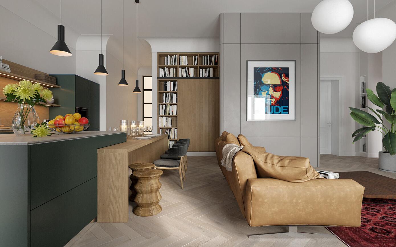 BZH Apartment by Bogdanova Bureau