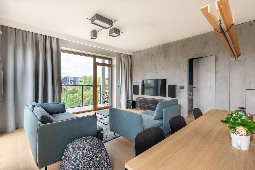 Modern City Apartment by Gintare Jarmalaviciute