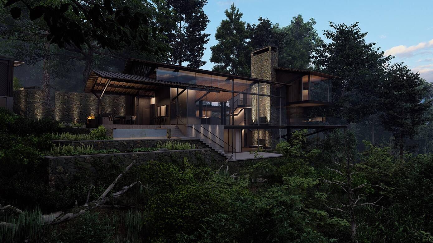 Blue Ridge House by 3 North
