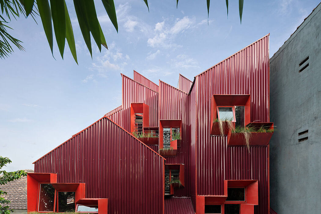 Red Zone Boarding House by Ismail Solehudin Architecture