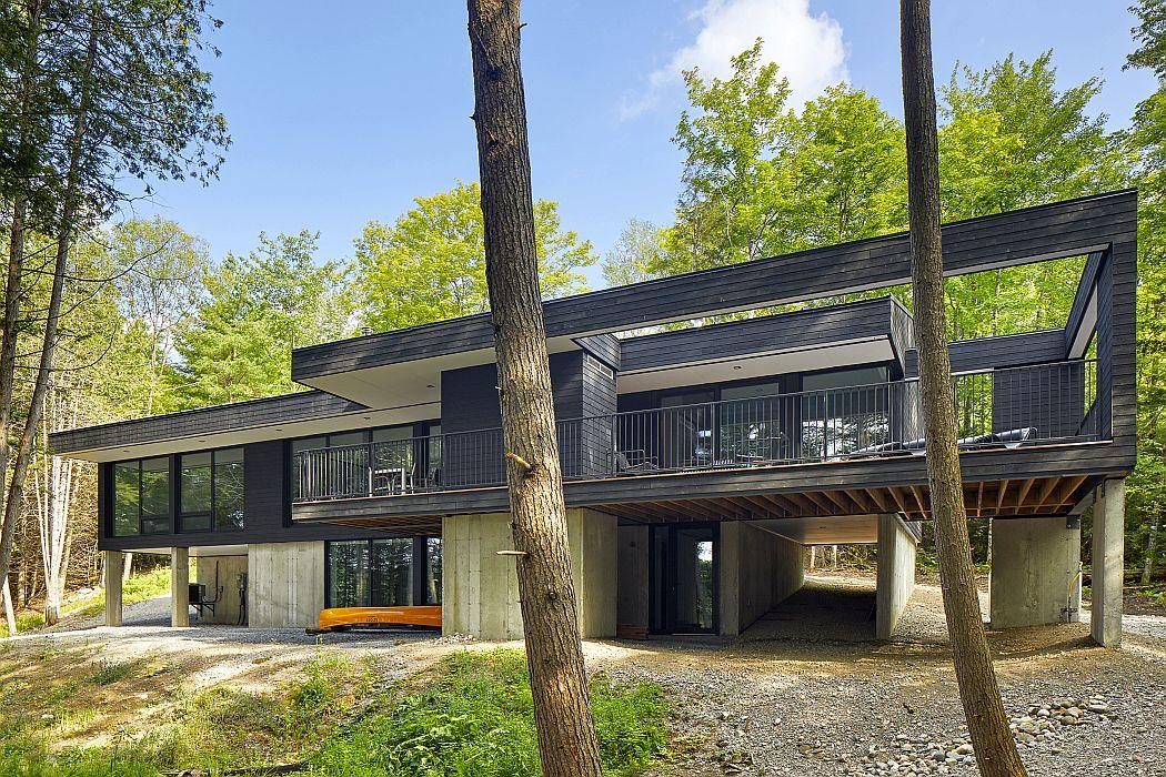 Kennebec Lakehouse by Zerafa Architecture