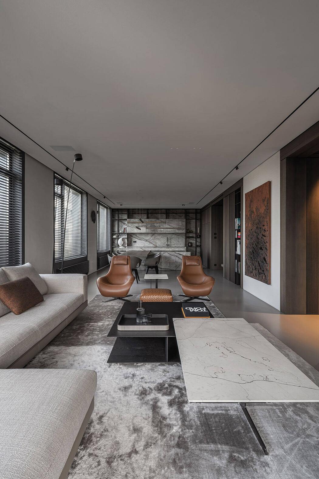 Elegant Apartment by Yodezeen Architects